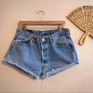 Levi's High Waist Cutoffs 36